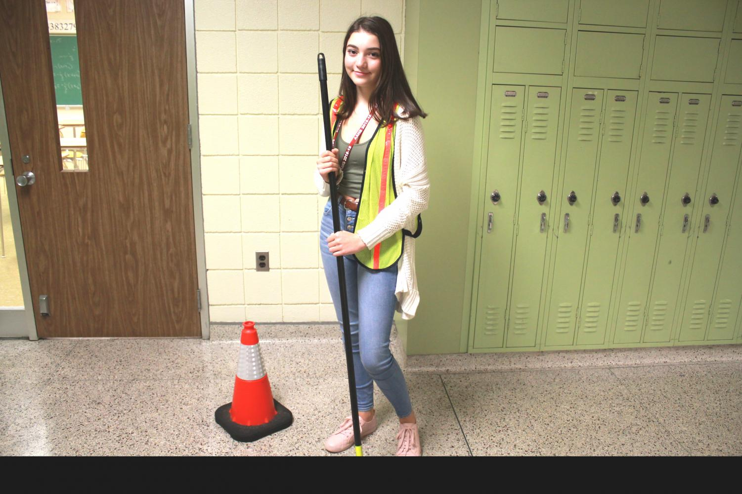 One person can make a difference! Carolyn Dunn, a sophomore entrepreneur is dressed in her clean up gear. Earthkeepers club meets in room A306, and does cleanups all over Altoona.