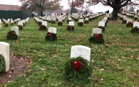 Laying wreaths at Arlington