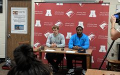 Lawhead and Hill college signing day