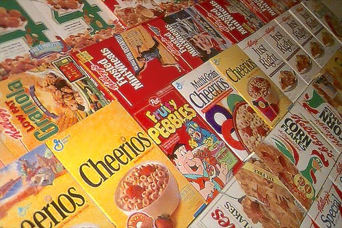 Cuckoo for Cocoa Puffs! Students are encouraged to bring any cereal boxes to donate for the cereal drive. With all of the donations, a wall of cereal is made. This all goes to charity after the drive is completed.  Picture credit: https://www.flickr.com/photos/samplereality/550436093