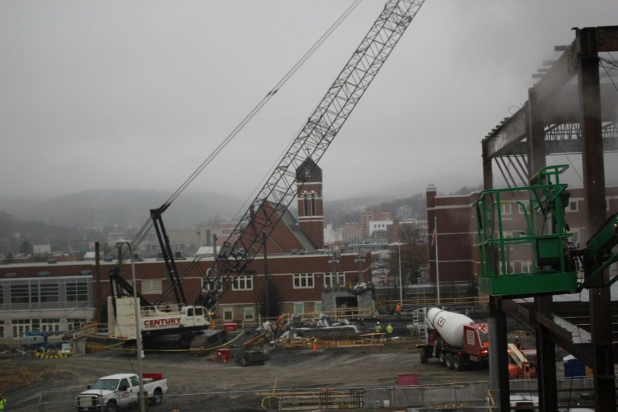 On+Jan.+4+construction+crews+continue+work+on+the+new+building.+Anticipated+completion+dated+is+July+2020.