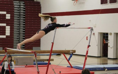 Gymnastics team competes in league competition