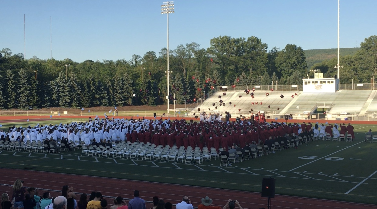 The class of 2018 officially graduate as they throw their caps into the air. The graduation date was June 1, one of the earliest graduations of the past few years.