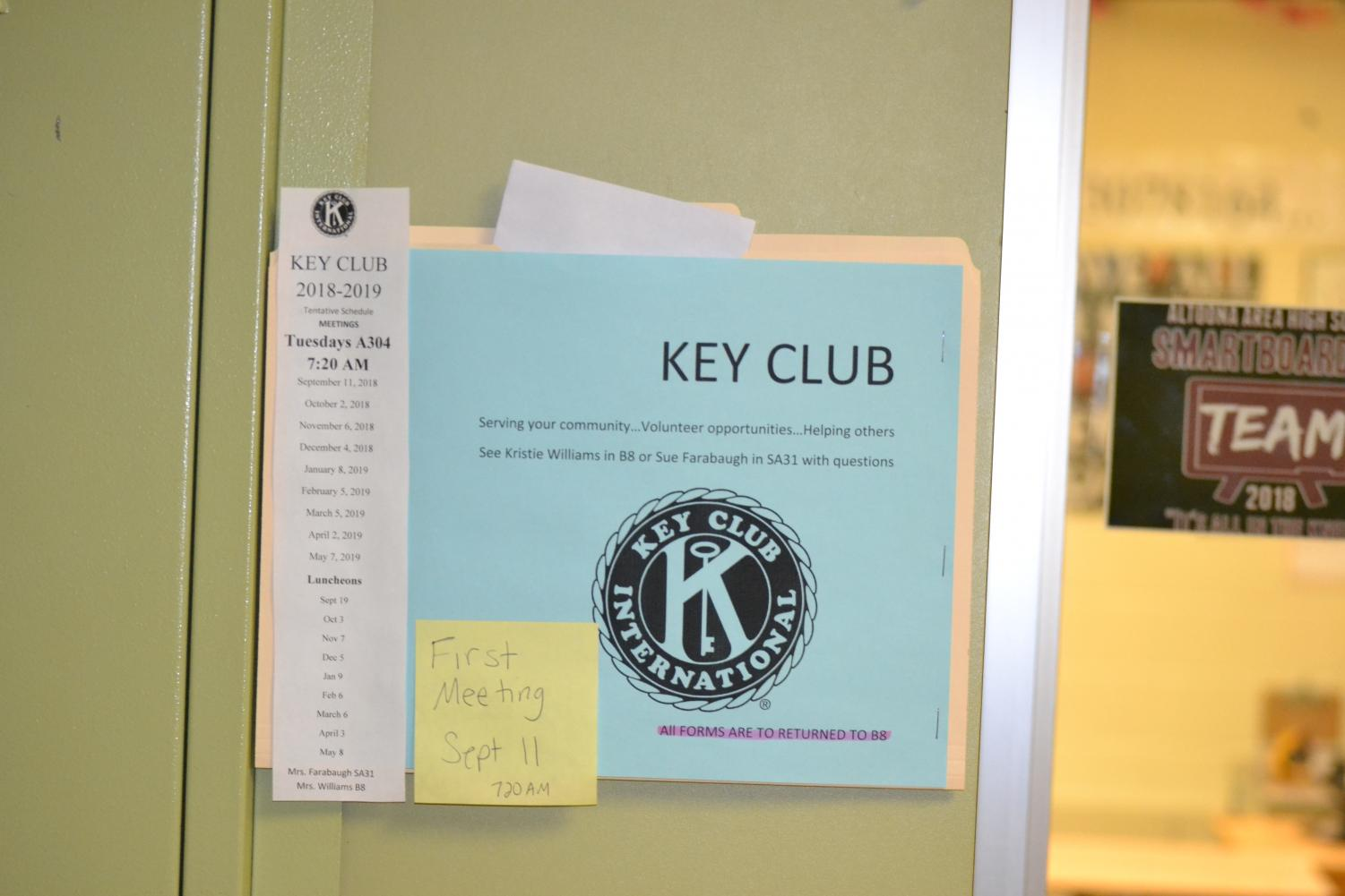 Key Club all-year calendar.