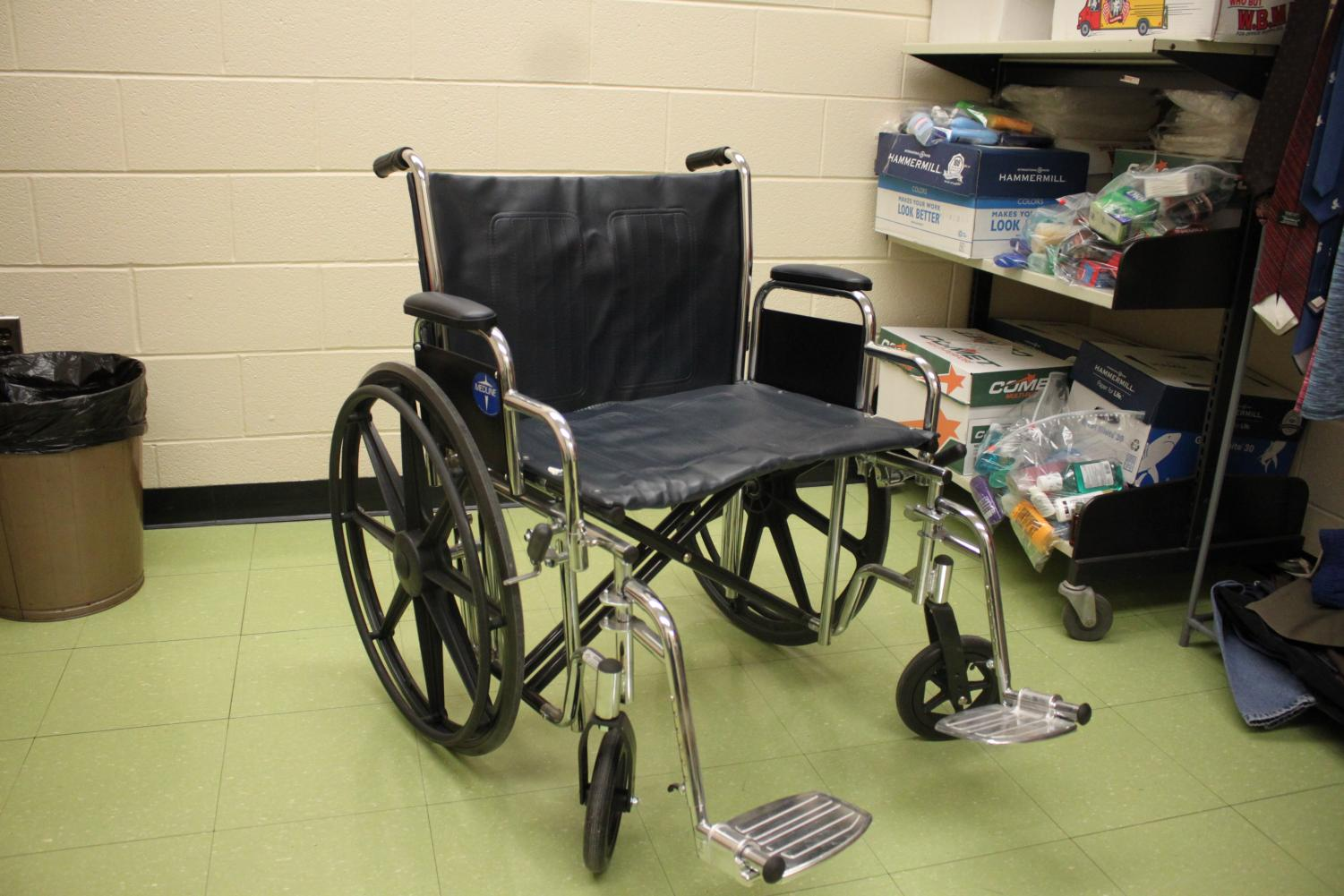 Some participating students chose to use a wheelchair throughout the day.