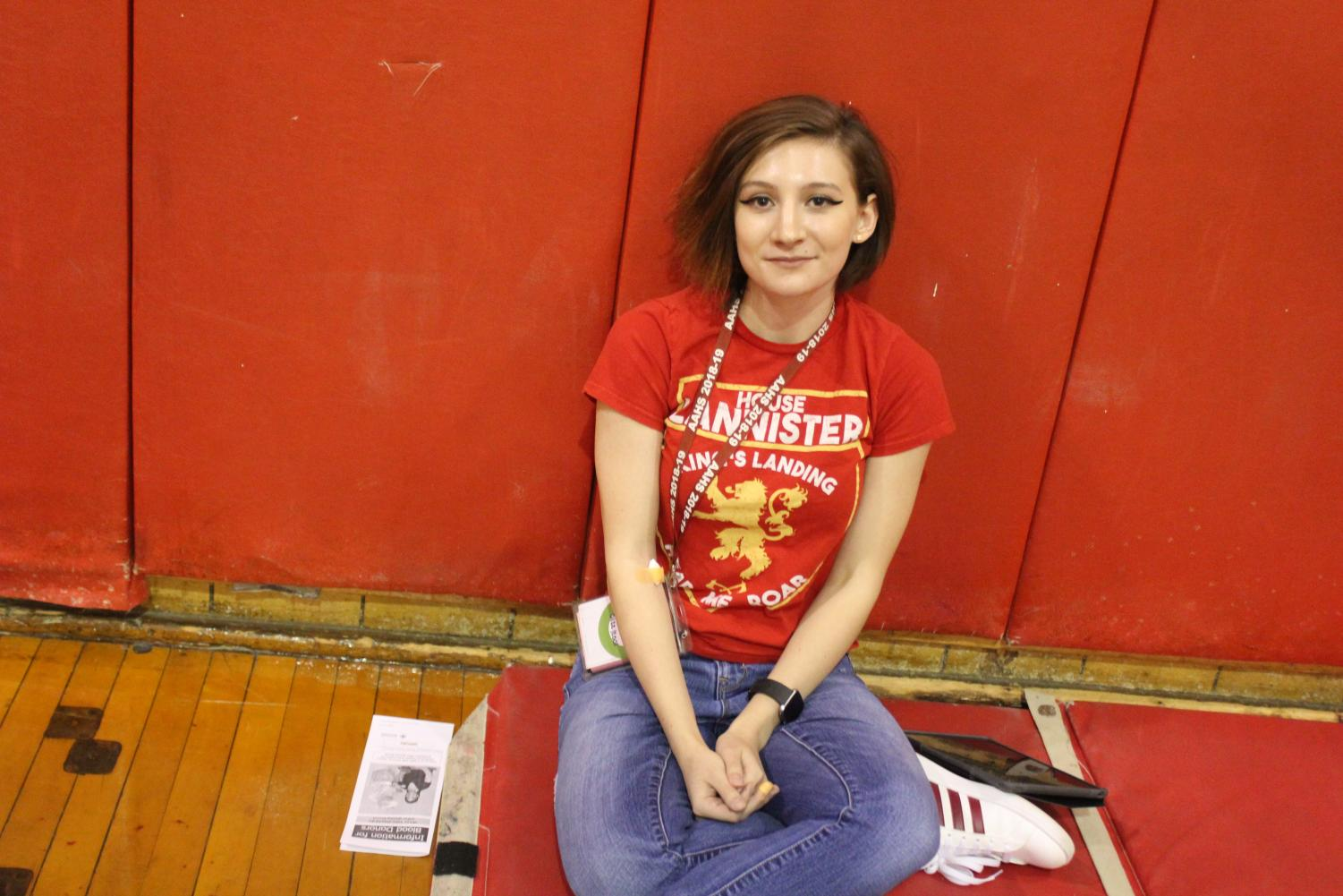 Senior+Geneva+Flarend+waits+to+feel+better+after+donating+blood+until+she+can+go+back+up+to+her+classroom.+Flarend+has+donated+previously+and+will+continue+to+donate.+%22My+mom+volunteered+to+donate+her+blood+to+the+Red+Cross+and+I+went+with+her%2C+since+I+went+with+her+I+always+thought+I+should+do+it+because+it+is+a+good+thing+to+do+and+it+can+make+a+big+difference%2C%22+Flarend+said.