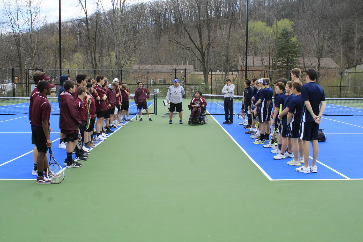 The+Mountain+Lions+meet+their+Hollidaysburg++opponents.+