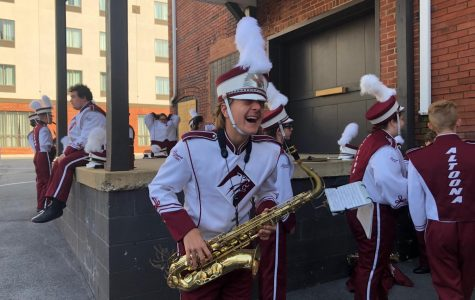 Marching band prepares for Labor Day parade