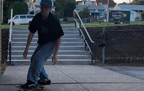 Skateboarders showcase skills