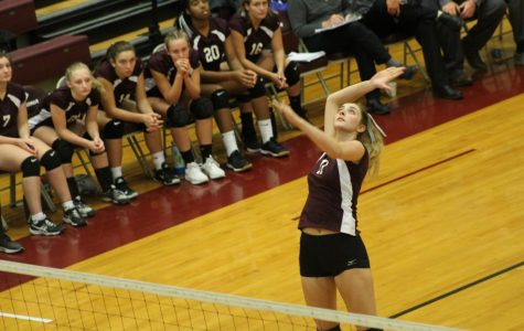 Athletes play in annual volleyball game
