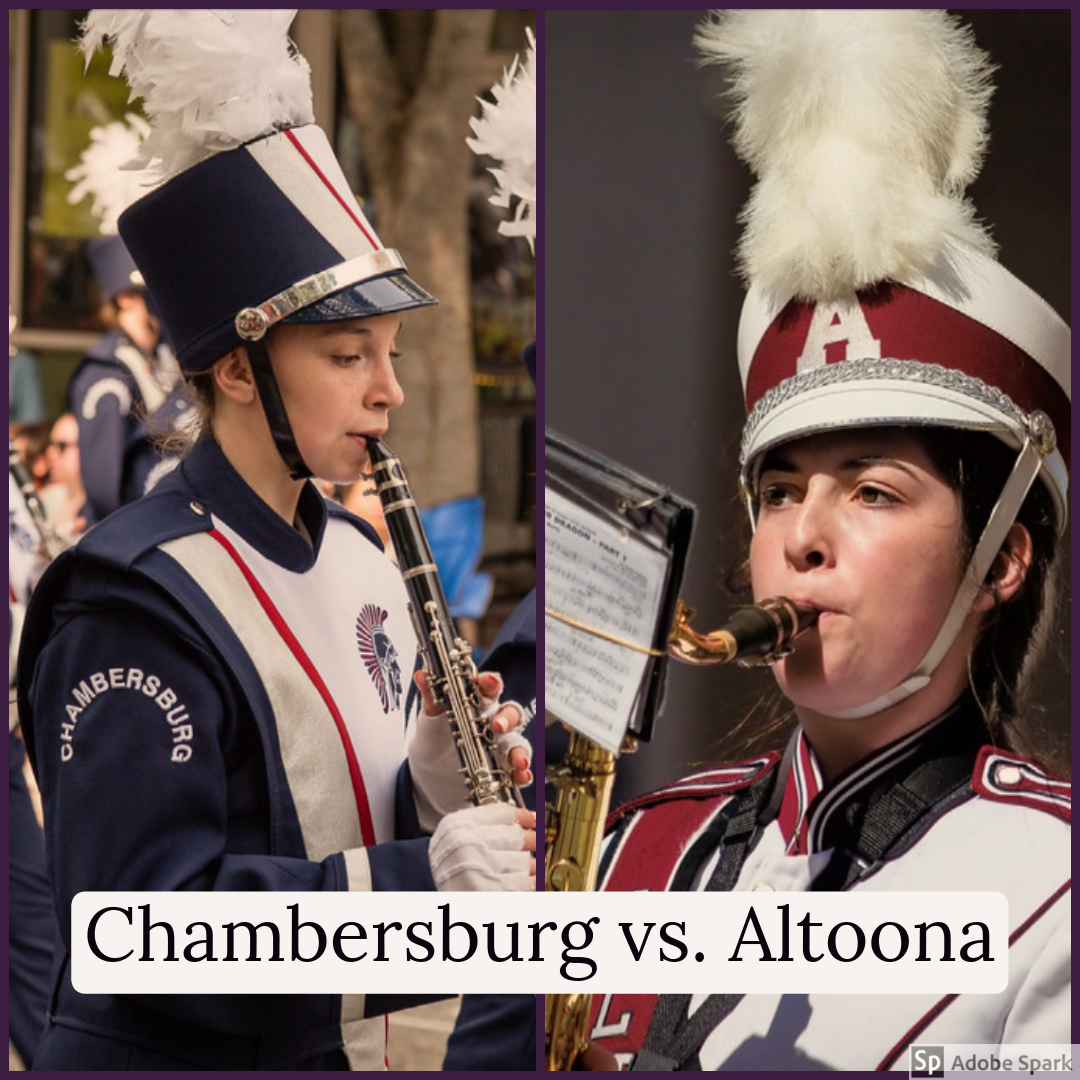 On Friday Sept. 13, the marching band will travel to Chambersburg to perform their halftime show. The Chambersburg band will also perform their halftime show as well. credit: (first picture) https://www.flickr.com/photos/mobili/33508693164/ (second picture) https://www.flickr.com/photos/mobili/26607547335/in/photostream/