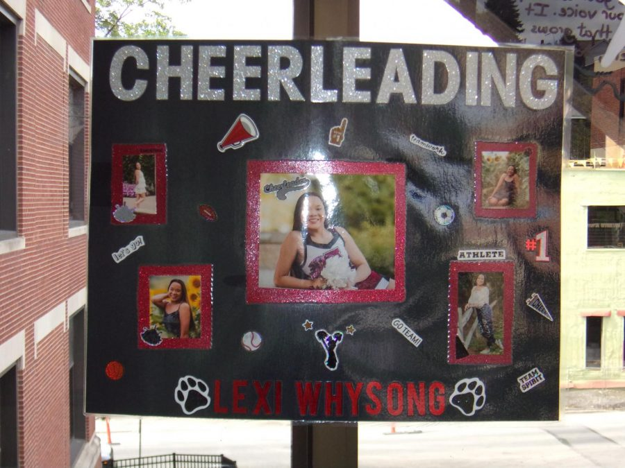 Senior Alexis Whysong is running for cheerleading.