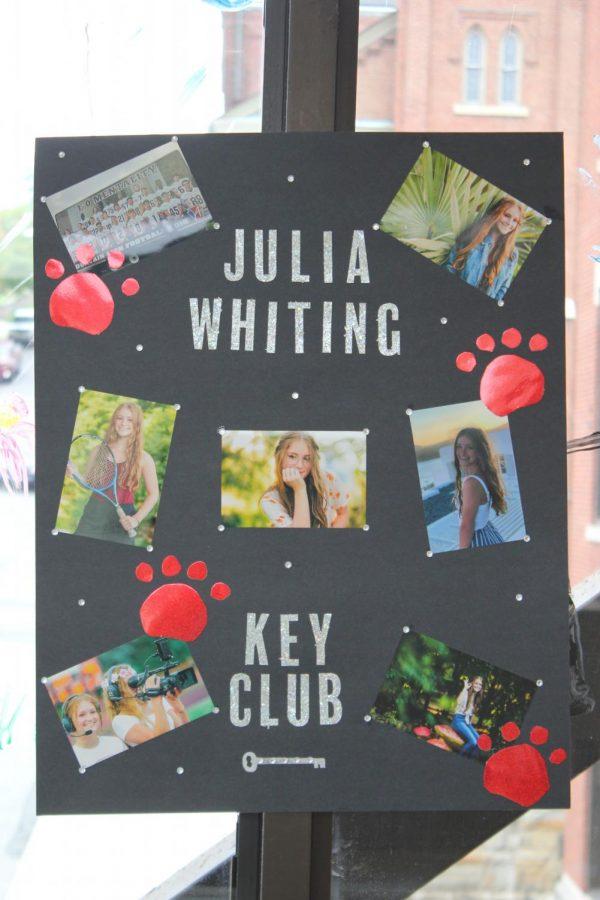 Senior+Julia+Whiting+is+running+for+key+club.+