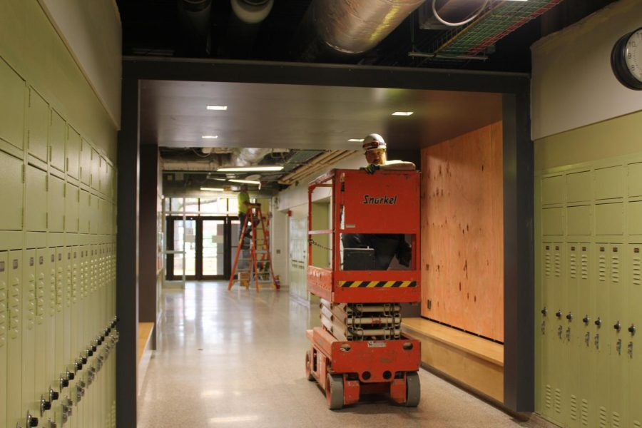 Equipment necessary for construction is found in the halls daily.