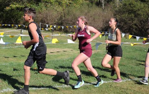 Run Senior Kylee Wisor starts the race at a meet during the girls' cross country season. Her and fellow teammate senior Emily Rentz was inspired to create a race for their senior project.