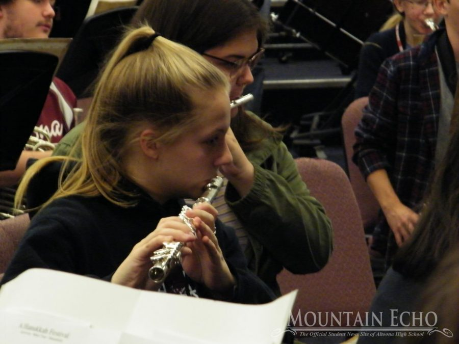 Let%27s+make+music%21+Sophomore+Cassandra+Vaughn+plays+her+flute.+She+had+to+make+sure+her+notes+were+in+tune.