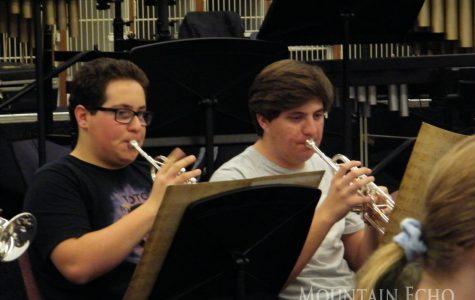 Wind ensemble practices after school