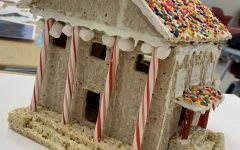 Physics students participate in gingerbread building contest