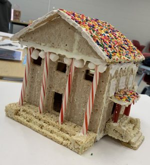 Baker Mansion was created by juniors Karenna Kauffman, Victoria Adams, Caitlin Williams and Mallory Cree.