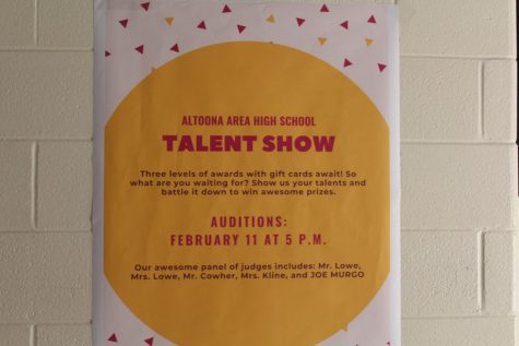 Look at this! Talent show auditions will be held on Feb. 11 and anyone can audition. The talent show will occur on Feb. 21. The talent show is judged by Shane Cowher, Jen Lowe, James Lowe, Carolyn Kline and Joe Murgo.