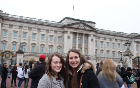 Buckingham Palace! Kovach and Stanley pose in front of the Buckingham Palace. This is one of many attractions they visited in London, England.