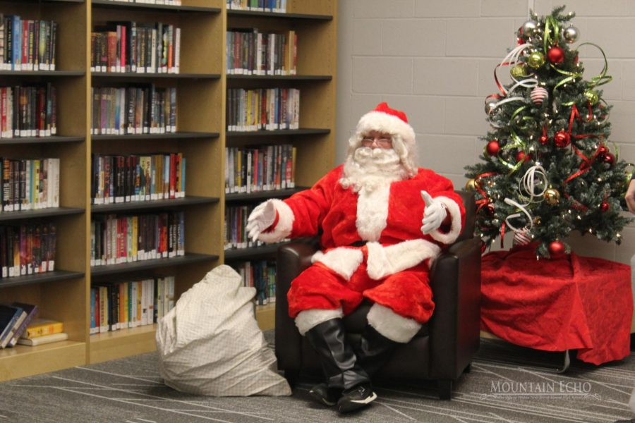 The event had a Santa for the kids to tell their wish list.  On Dec. 12, Santa and his helper gave out boxes of candy to the kids.