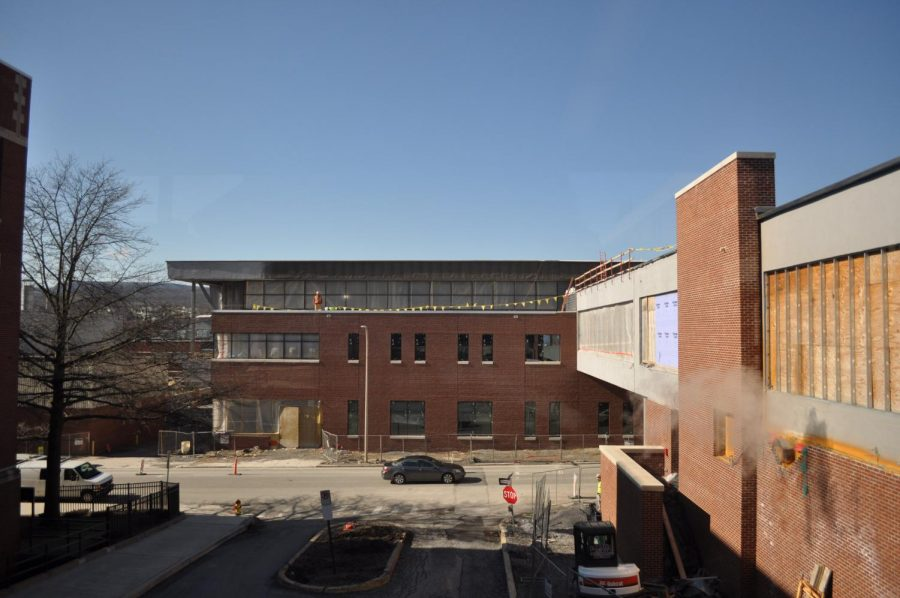 Sticks and stones. Altoona's footprint has been changed with a new addition- the modernized version of the B- building. The construction started around October 2018, and the old building is to be torn down June 2020.