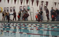Swimmers celebrate senior night