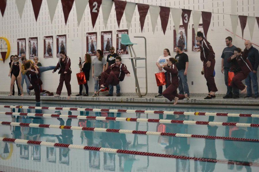 Swimmers celebrate senior night