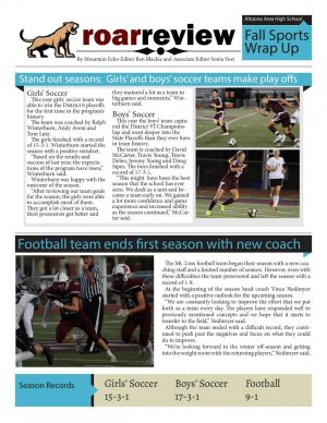 Fall sports wrap up special edition