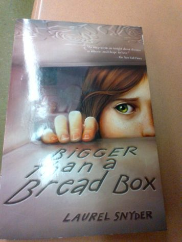 "Reading time!  ""Bigger Than a Bread Box"" by Laurel Snyder is a book that teachers use in class for Readers workshop."
