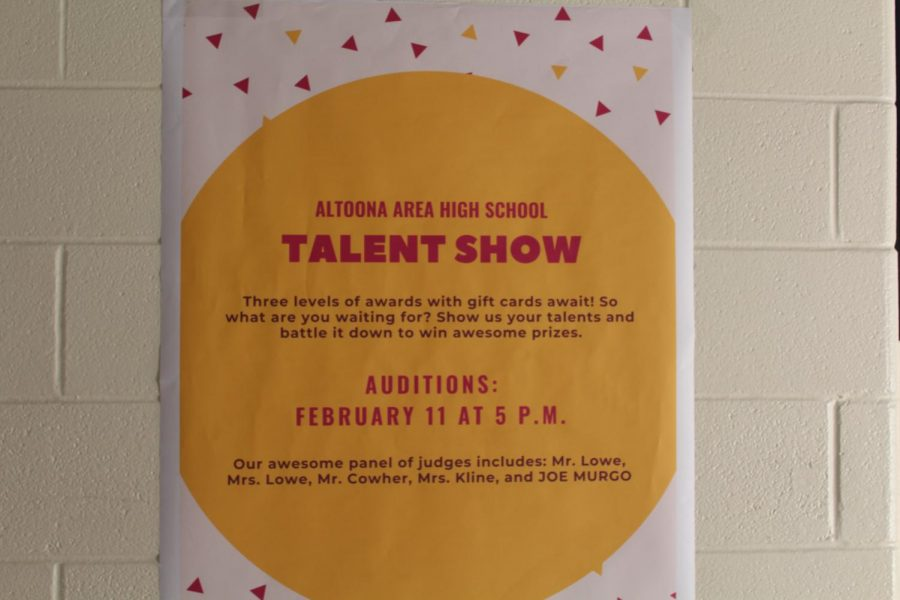 Look at this! Talent show will be held on Feb. 21 and anyone can watch. The talent show is judged by Shane Cowher, Jen Lowe, James Lowe, Carolyn Kline and Joe Murgo.