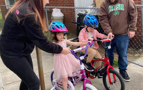 Get some fresh air! Quarantine is harsh on the brain, but getting out as much as possible can help a lot. These kids got new bikes on Easter day and went out to ride them.
