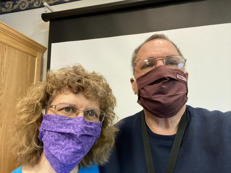 On April 4, Dr. Charles Prijatelj posted this picture to Twitter updating the progress of the mask project for essential employees in the district.