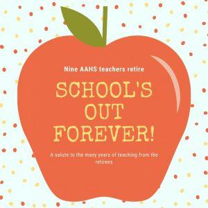 Retiring teachers end school year