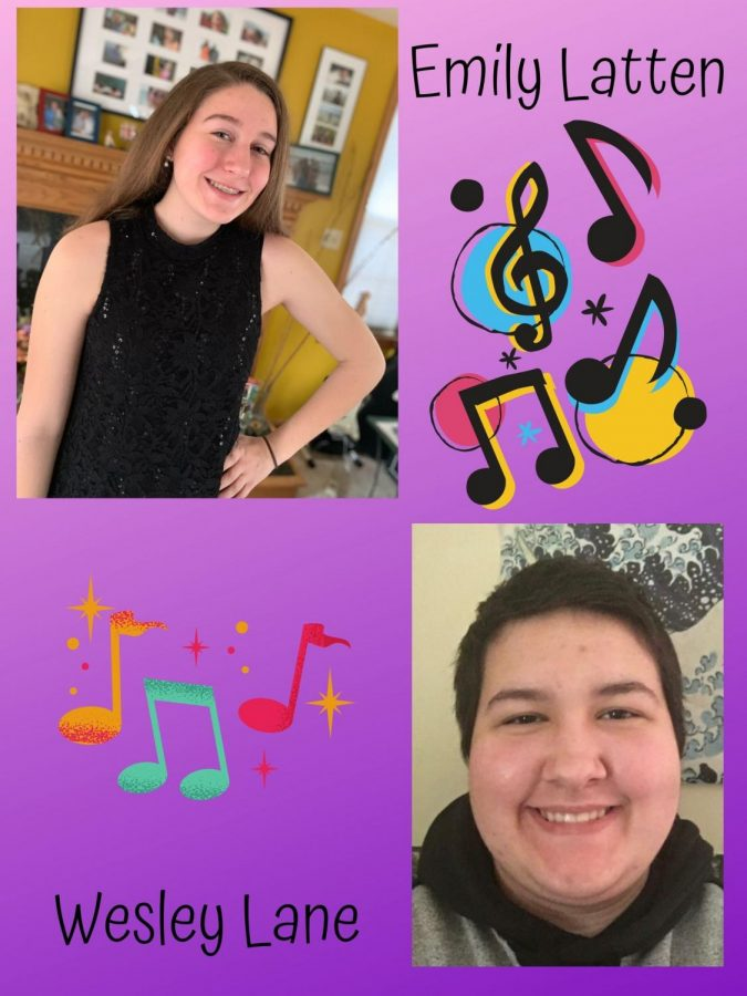 Sing your hearts out!  Seniors Emily Latten and Wesley Lane were accepted to the NAFME Mixed Choir Festival. Due to COVID-19, it was cancelled.