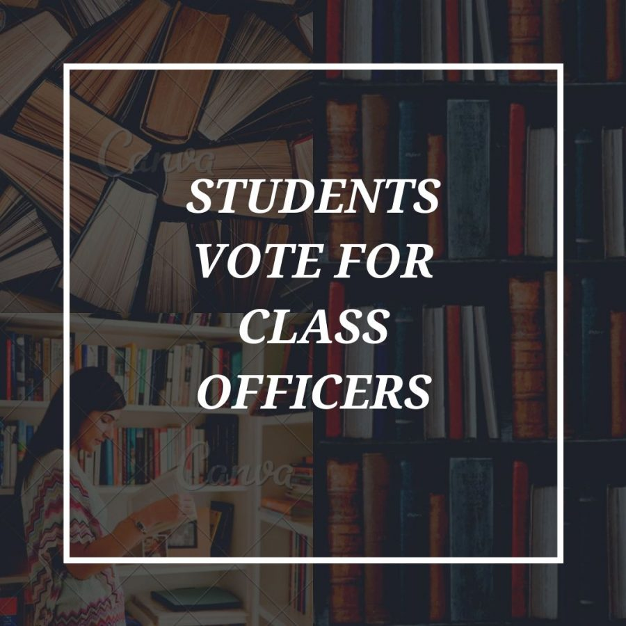 Class officers selected by student body