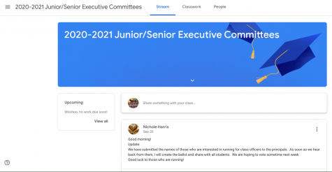 All virtual!  Students access all information through the google classroom for Class Committee. All students who previously signed up were sent a link to access the classroom.