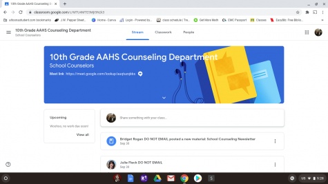Guidance at home. Each grade has its own google classroom for the guidance office. Be sure to look through the materials after you