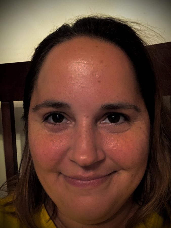 Selfie!  Spanish teacher Jamie Bergstein snaps a selfie. She is feeling a lot better now after her Coronavirus experience.