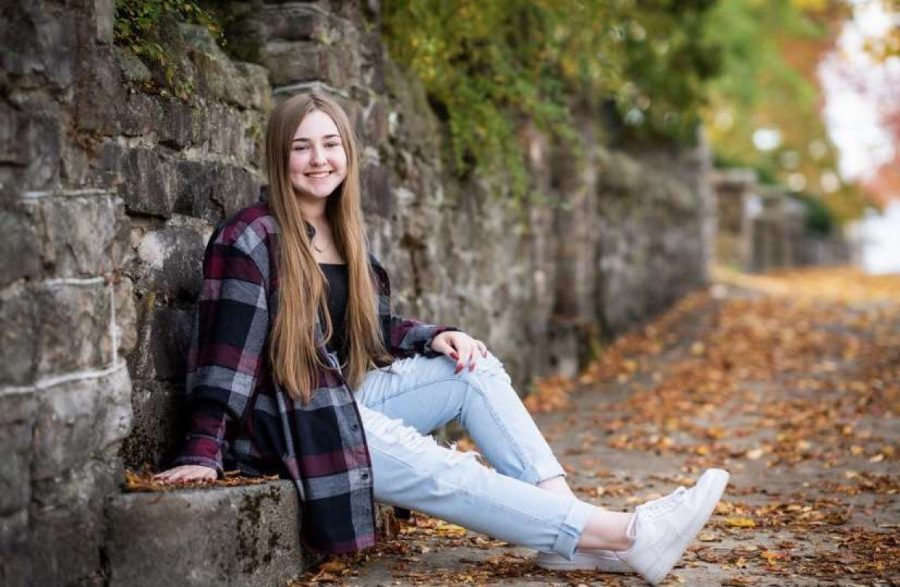 Preparing for a new beginning.  Senior Kasey Schultz will attend Saint Francis University after high school. Schultz will major in special education and minor in ASL.