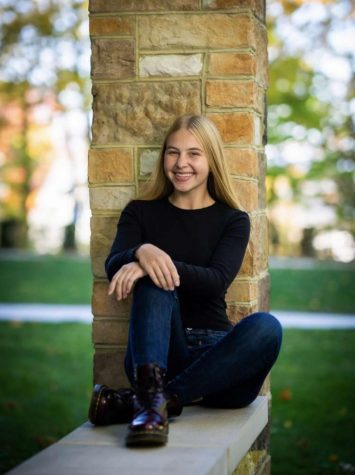 Ready for the future. Senior Julia Lane will attend Juniata College after graduating high school. Lane will major in Early Education and specialize in grades Pre-K through fourth.