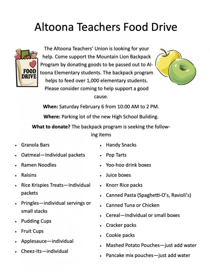 Teachers' union to hold food drive