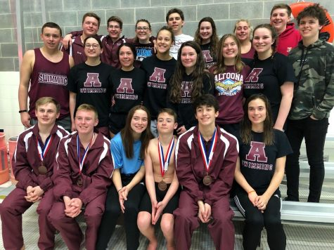 In February of 2020, the swim team traveled to State College to compete in the District Six Swimming and Diving Championships. Due to COVID-19 restrictions, the team will not be able to take as many members.