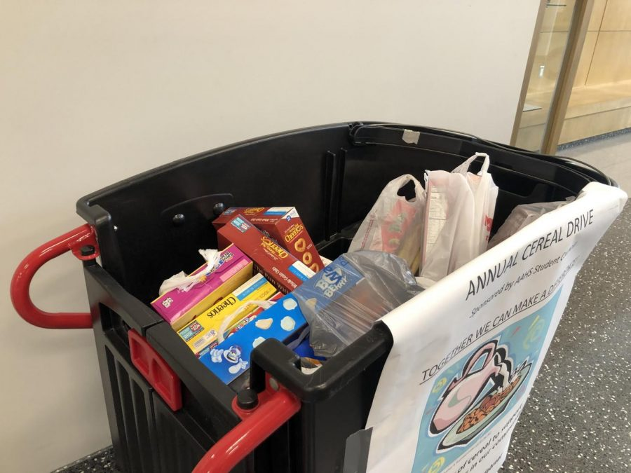 School cereal drive accepting donations