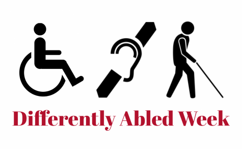 Differently abled week will take place at the end of March and at the beginning of April. History teacher Carolyn Kline created and manages differently abled week as a way to break down barriers between her students and special education students. (Image made with Adobe Spark)
