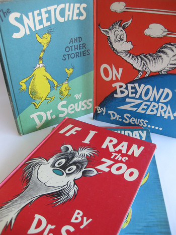 Six Dr. Seuss books such as