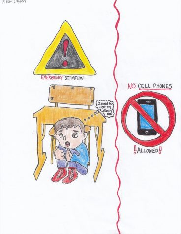As of now, students are not permitted to have cell phones during the school day. This prevents communication during emergency situations.
