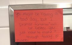 Navigation to Story: Anonymous notes spread positivity in girls' bathroom