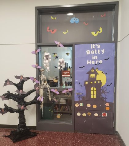 The door decorating contest is coming up B134 has their door ready to go early.